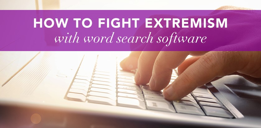 How to fight extremism with word search