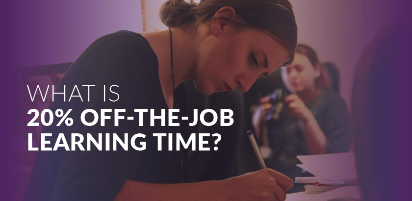 What is 20% off-the-job learning time?