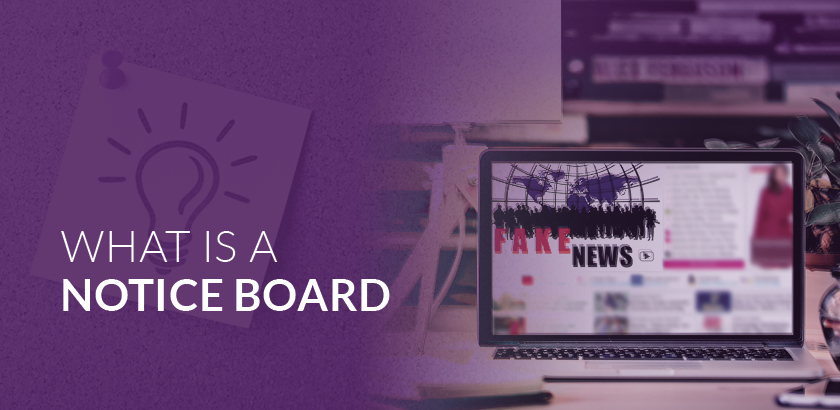 What is a noticeboard?