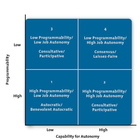 CMSVOC - leadership style matrix
